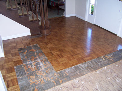Floor with old flooring