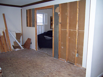 Room before remodelling